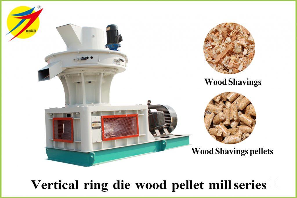 Vertical ring die wood pellet mill series