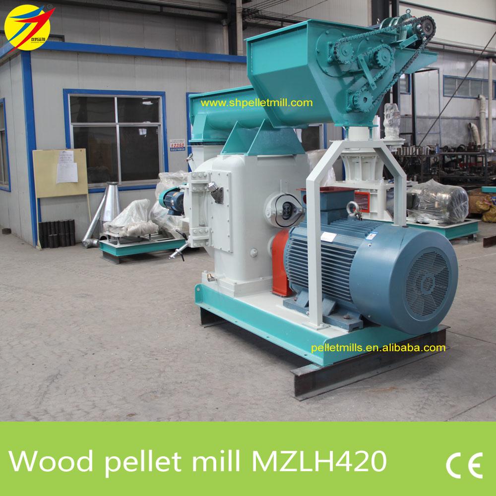 Wood pellet maker mill making