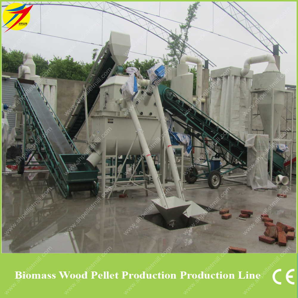 Biomass Pellet Production ~ Wood pellet plant line