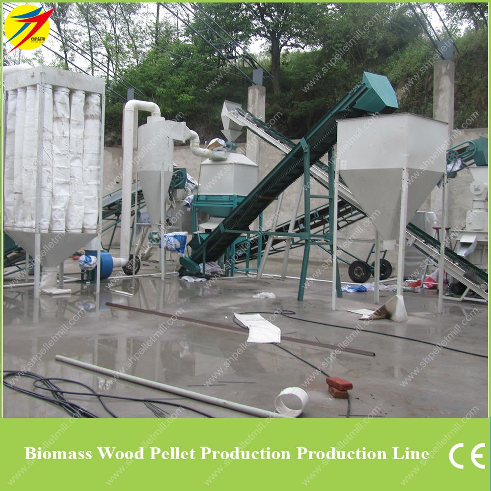 Wood pellet plant line