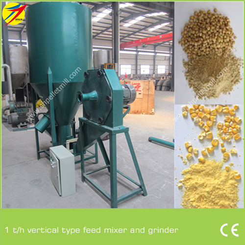 1 T/H Vertical Type Feed Mixer And Grinder In African - Professional