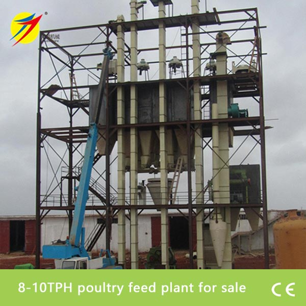8-10TPH poultry feed plant for sale - Feed production line