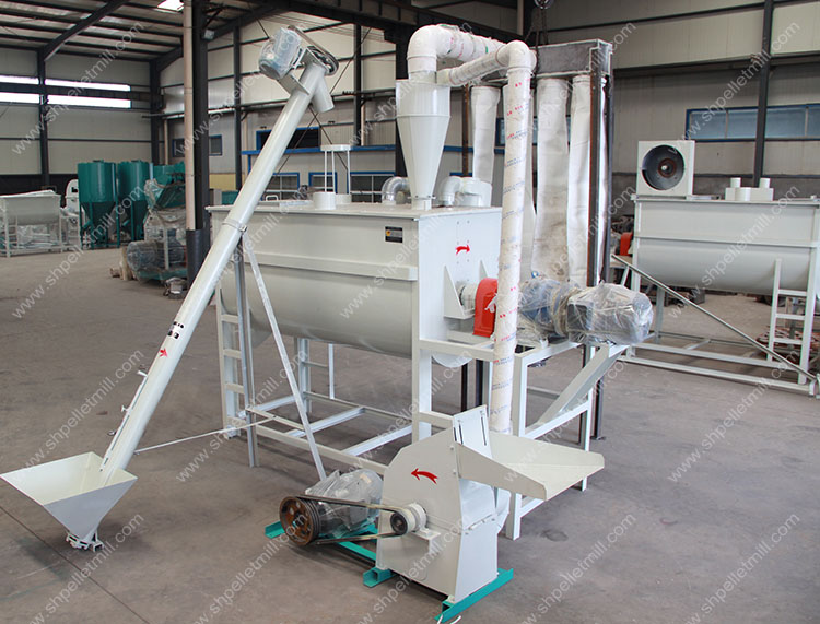feed crusher and mixer group
