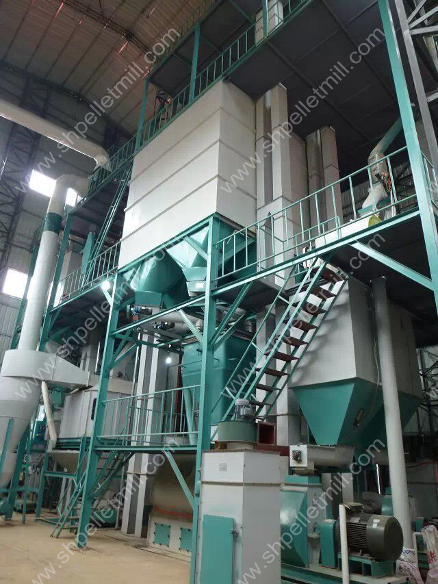 feed pellet production line 2t-4t