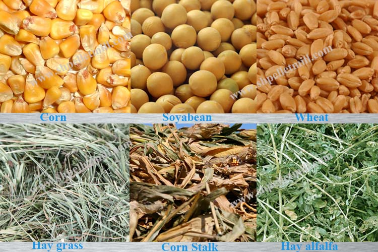 aw materials of feed pellet