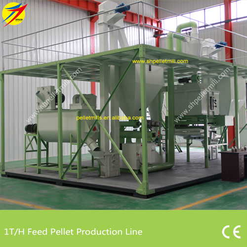 1t feed pellet production line
