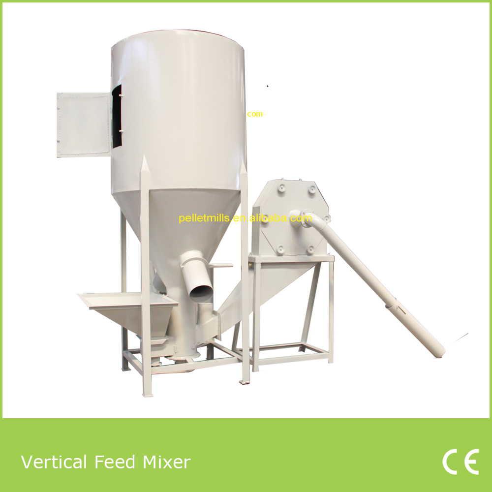 Vertical animal feed mixer