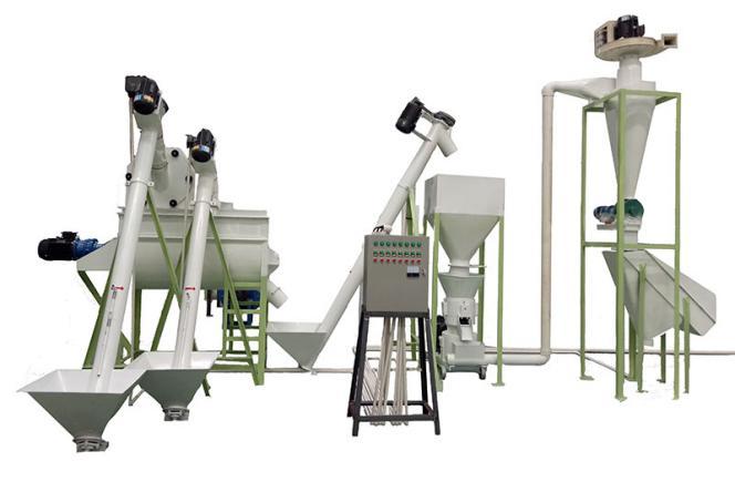500kg/h feed pellet production line