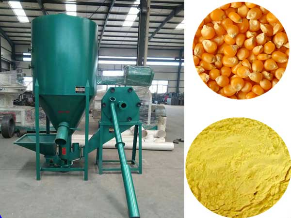 Poultry feed mixer grinder