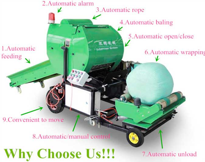 corn silage baler machine