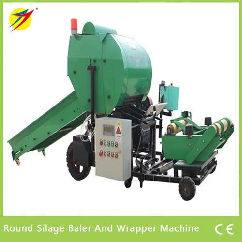Round Silage Baler And Wrapper Machine